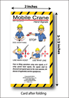 Mobile Crane Hand Signals Folding Cards (package of 25) - FHSC-E14